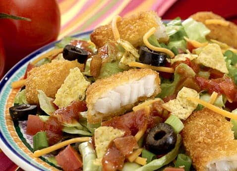 Mexican fish salad recipe gortons seafood for Mexican fish dishes