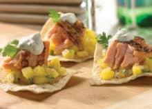 Grilled Cilantro Lime Salmon with Mango Salsa Recipe