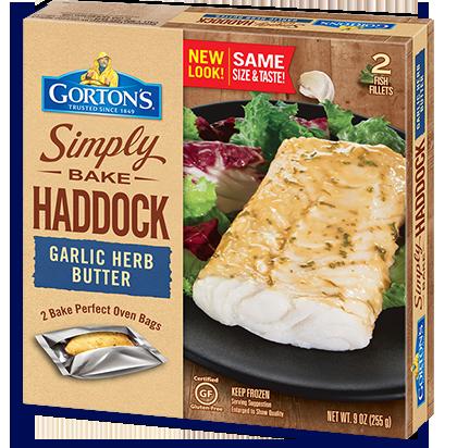 Simply Bake Haddock Garlic Herb Butter