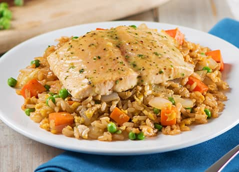 Asian Salmon Fried Rice Recipe