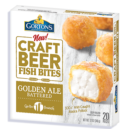 Golden Ale Battered Craft Beer Fish Bites