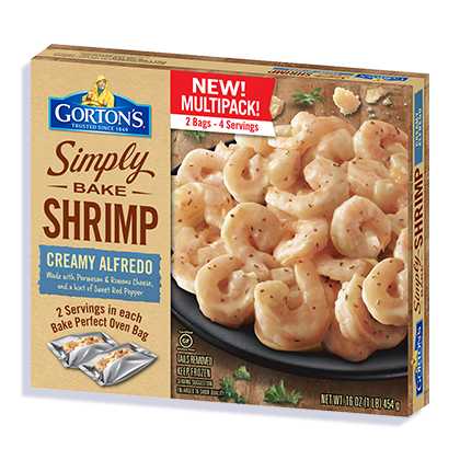 Simply Bake Creamy Alfredo Shrimp