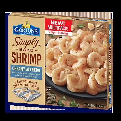 Simply Bake Creamy Alfredo Shrimp