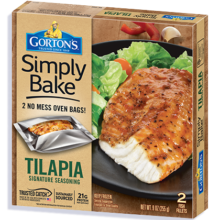 Simply Bake Tilapia product package